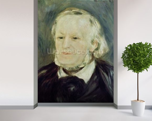 Portrait of Richard Wagner (1813-83), 1893 (oil on canvas) (see also 27900) mural wallpaper room setting