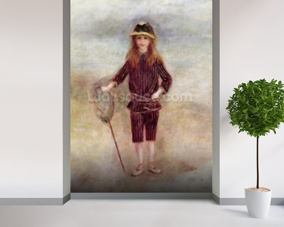 The Little Fisherwoman (Marthe Berard) 1879 (oil on canvas) wall mural room setting