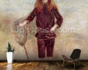 The Little Fisherwoman (Marthe Berard) 1879 (oil on canvas) wall mural kitchen preview