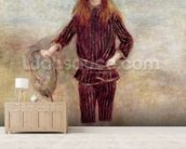 The Little Fisherwoman (Marthe Berard) 1879 (oil on canvas) wall mural living room preview