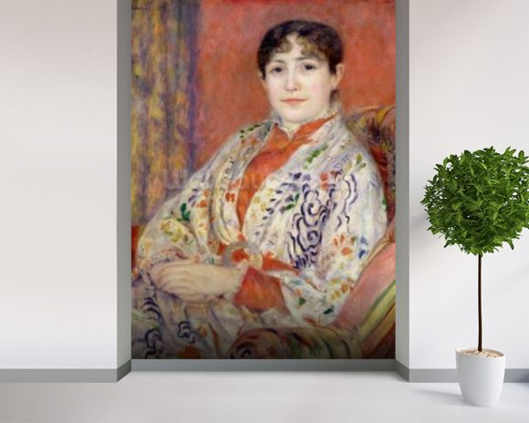 Madame Heriot, 1882 (oil on canvas) mural wallpaper room setting