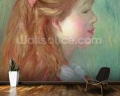 Young girl with Long hair in profile, 1890 wall mural kitchen preview