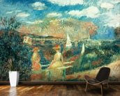 The banks of the Seine at Argenteuil, 1880 wallpaper mural kitchen preview