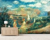 The banks of the Seine at Argenteuil, 1880 wallpaper mural living room preview