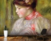 Young woman adjusting her blouse, 1900 wall mural kitchen preview