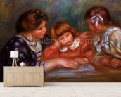 The Lesson, 1906 wall mural living room preview