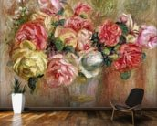 Roses in a Sevres vase wall mural kitchen preview
