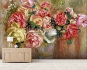 Roses in a Sevres vase wall mural living room preview