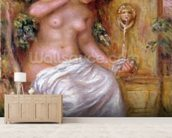 The Bather at the Fountain, 1914 wall mural living room preview