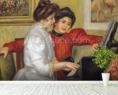 Yvonne and Christine Lerolle at the piano, 1897 (oil on canvas) wallpaper mural in-room view