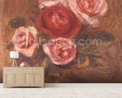 Roses in a pot mural wallpaper living room preview