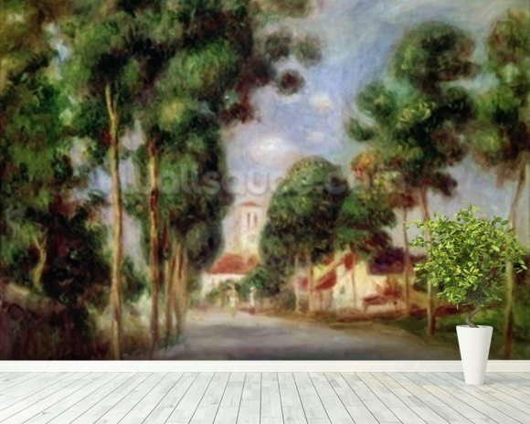 The Road to Essoyes, 1901 (oil on canvas) wall mural room setting