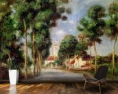 The Road to Essoyes, 1901 (oil on canvas) wall mural kitchen preview