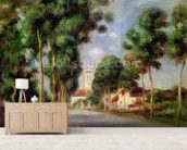 The Road to Essoyes, 1901 (oil on canvas) wall mural living room preview