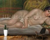 Reclining female nude (Gabrielle) 1906-07 (oil on canvas) wall mural kitchen preview