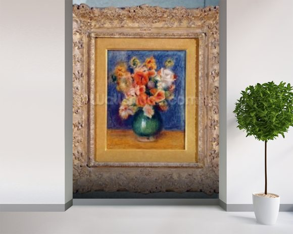 Bouquet, c.1900 (oil on canvas) wallpaper mural room setting
