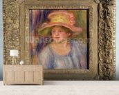 Woman with a hat, c.1915-19 ? (oil on canvas) wall mural living room preview