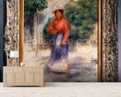 Gabrielle in the garden, c.1905 ? (oil on canvas) wallpaper mural living room preview