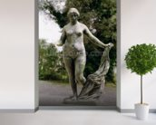 Venus Victrix (bronze) wall mural in-room view