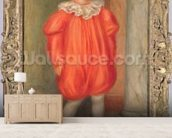 Claude Renoir in a clown costume, 1909 (oil on canvas) wall mural living room preview