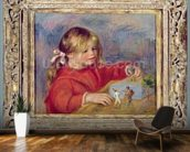 Claude Renoir at play, c.1905 (oil on canvas) wallpaper mural kitchen preview