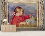 Claude Renoir at play, c.1905 (oil on canvas) wallpaper mural living room preview