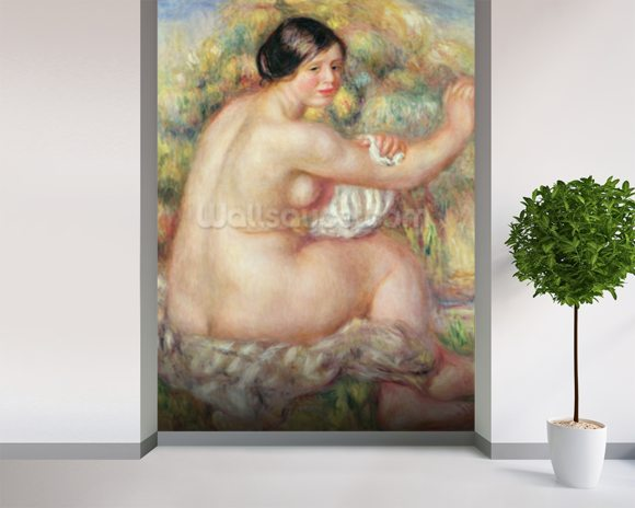 Large Seated Nude, 1912 (oil on canvas) mural wallpaper room setting