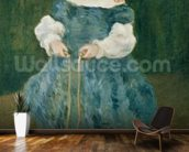 Girl with a skipping rope, 1876 (oil on canvas) wall mural kitchen preview