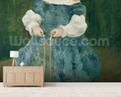Girl with a skipping rope, 1876 (oil on canvas) wall mural living room preview