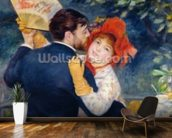 A Dance in the Country, 1883 (oil on canvas) (detail of 37338) wallpaper mural kitchen preview