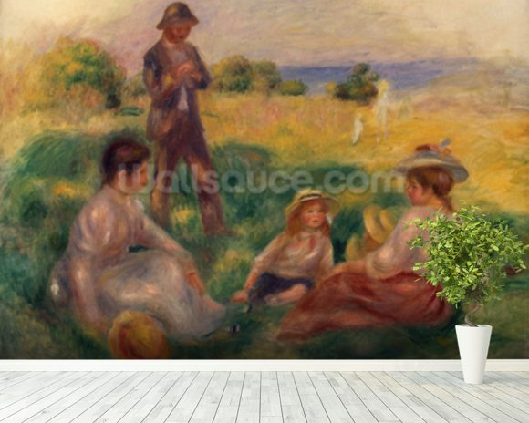 Party in the Country at Berneval, 1898 (oil on canvas) mural wallpaper room setting