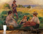 Party in the Country at Berneval, 1898 (oil on canvas) mural wallpaper kitchen preview