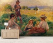 Party in the Country at Berneval, 1898 (oil on canvas) mural wallpaper living room preview