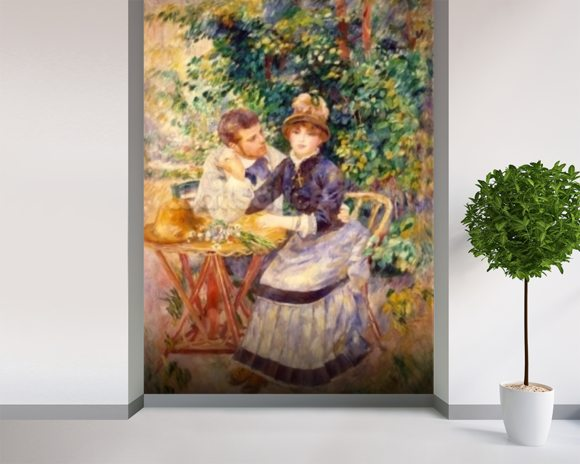 In the Garden, 1885 (oil on canvas) wall mural room setting