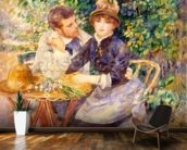 In the Garden, 1885 (oil on canvas) wall mural kitchen preview