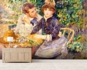 In the Garden, 1885 (oil on canvas) wall mural living room preview