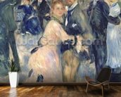 Ball at the Moulin de la Galette, 1876 (oil on canvas) (detail of 36481) wallpaper mural kitchen preview