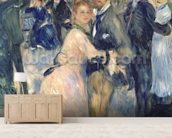 Ball at the Moulin de la Galette, 1876 (oil on canvas) (detail of 36481) wallpaper mural living room preview