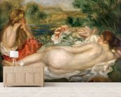 Two Bathers, 1896 (oil on canvas) wall mural living room preview