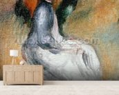 Young Girl Seated, 1885 (oil on canvas) mural wallpaper living room preview