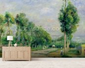 The Road to Versailles at Louveciennes (oil on canvas) wall mural living room preview