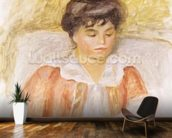 Portrait of Madame Albert Andre (oil on canvas) mural wallpaper kitchen preview