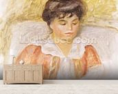 Portrait of Madame Albert Andre (oil on canvas) mural wallpaper living room preview