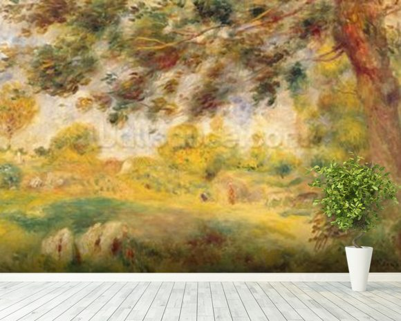 Spring Landscape (oil on canvas) wall mural room setting
