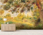 Spring Landscape (oil on canvas) wall mural living room preview