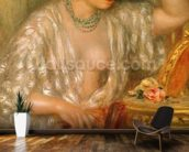 Gabrielle with Jewellery, 1910 (oil on canvas) wallpaper mural kitchen preview