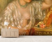Gabrielle with Jewellery, 1910 (oil on canvas) wallpaper mural living room preview