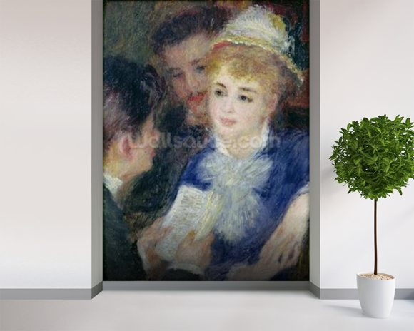 Reading the Role (oil on canvas) wall mural room setting