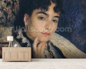 Portrait of Madame Alphonse Daudet (1844-1940) 1876 (oil on canvas) wallpaper mural living room preview