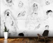 Arabs, 1881-82 (oil on canvas) (b/w photo) mural wallpaper kitchen preview